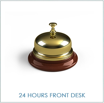 24 hours front desk